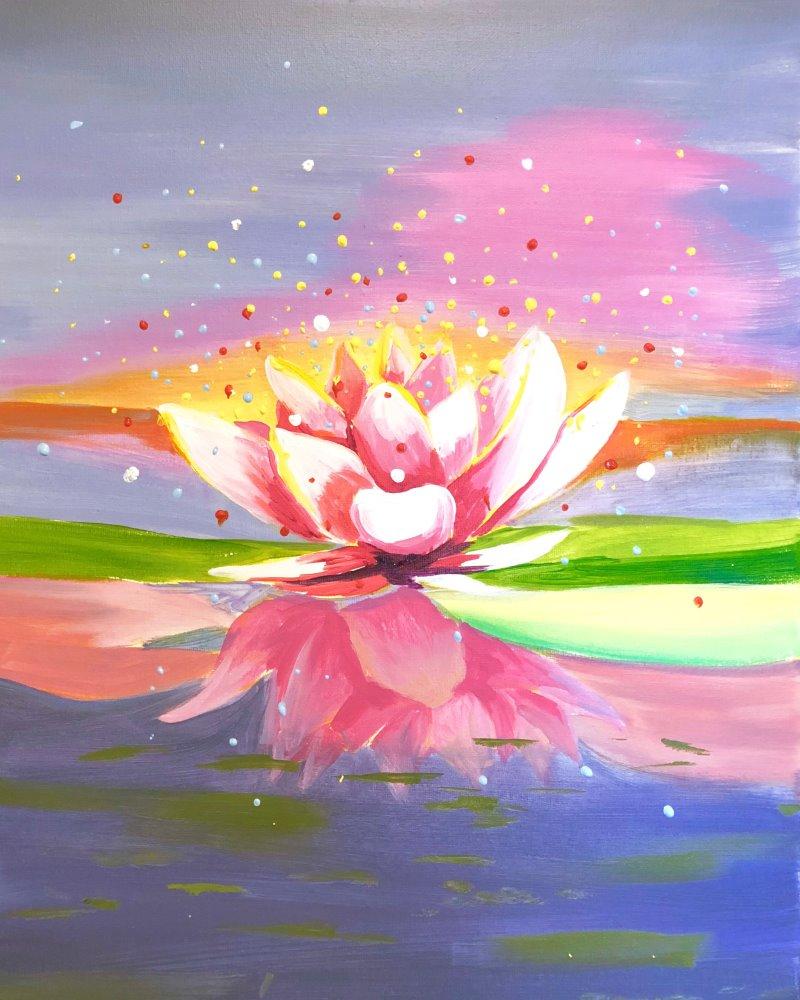 Pink Lotus- Muse Paintbar