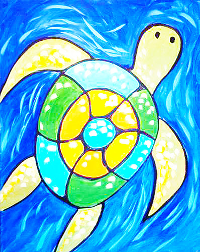 Colorful Turtle- Muse Paintbar