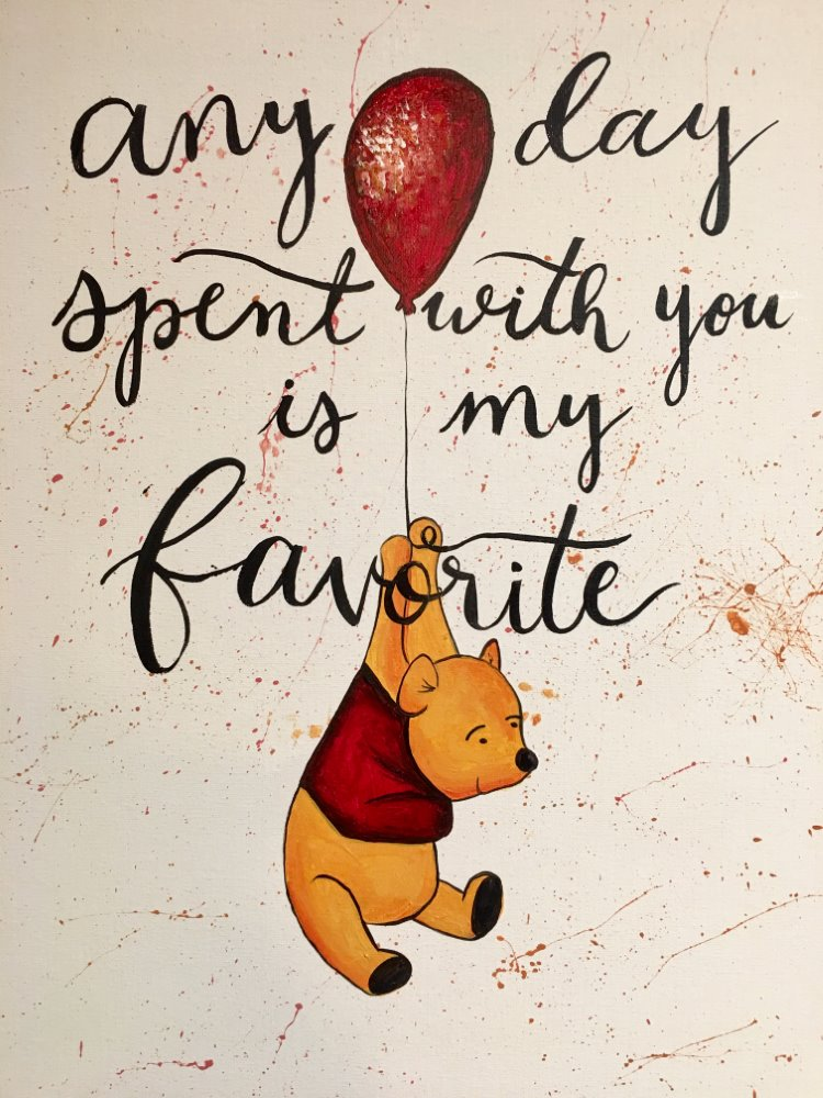 Pooh Bear- Muse Paintbar