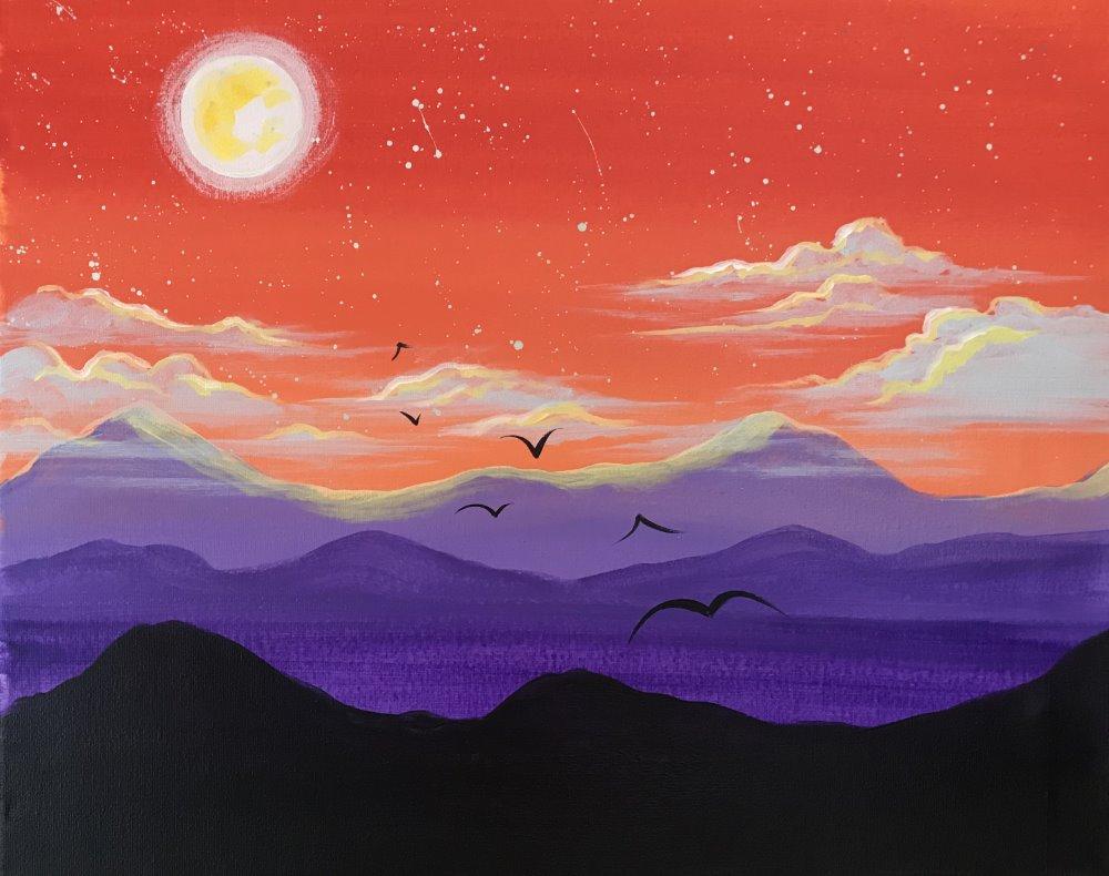 Purple Mountain Haze- Muse Paintbar