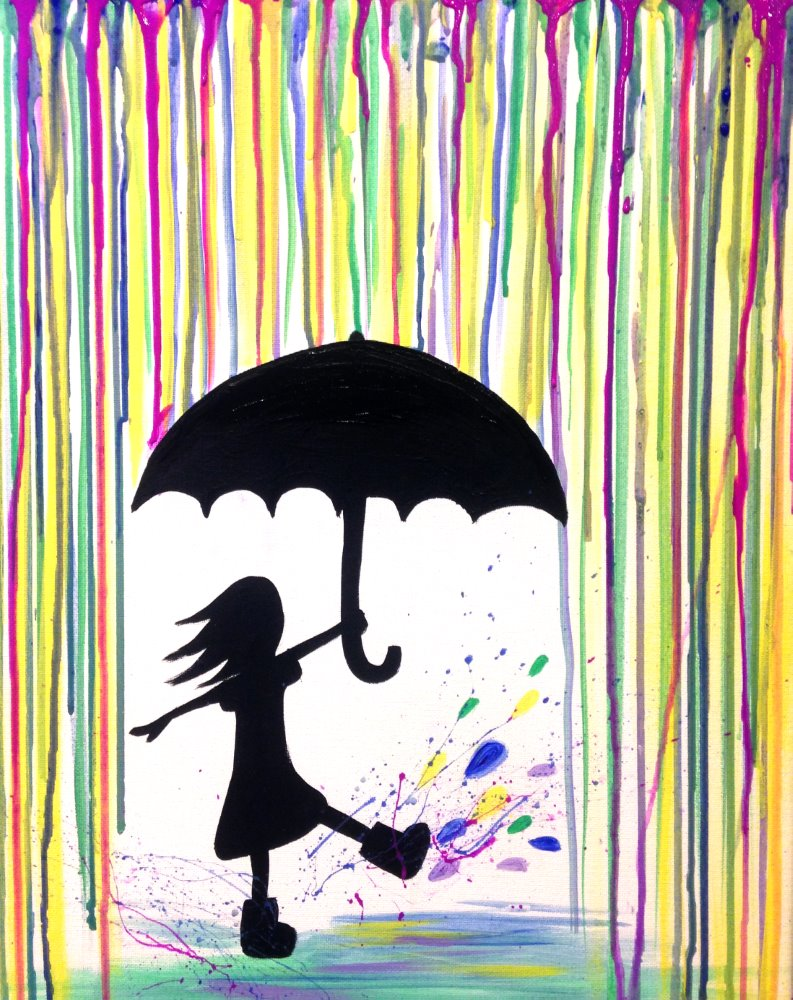 Raining Rainbows- Muse Paintbar