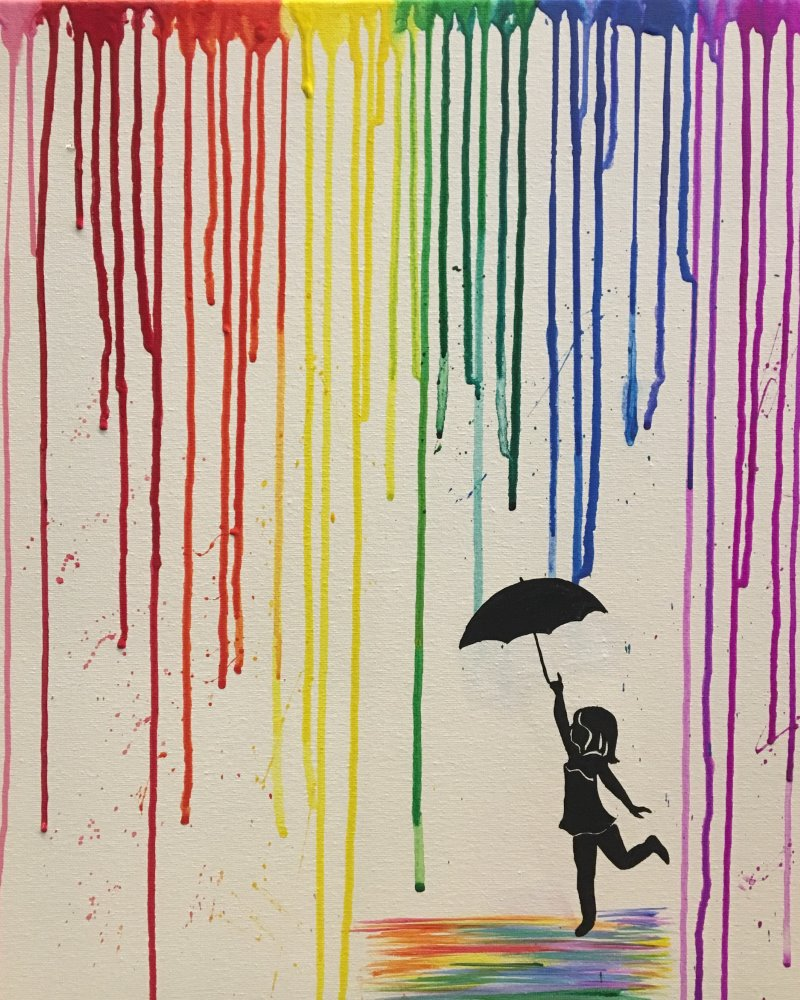 Raining Rainbows- Muse Paintbar