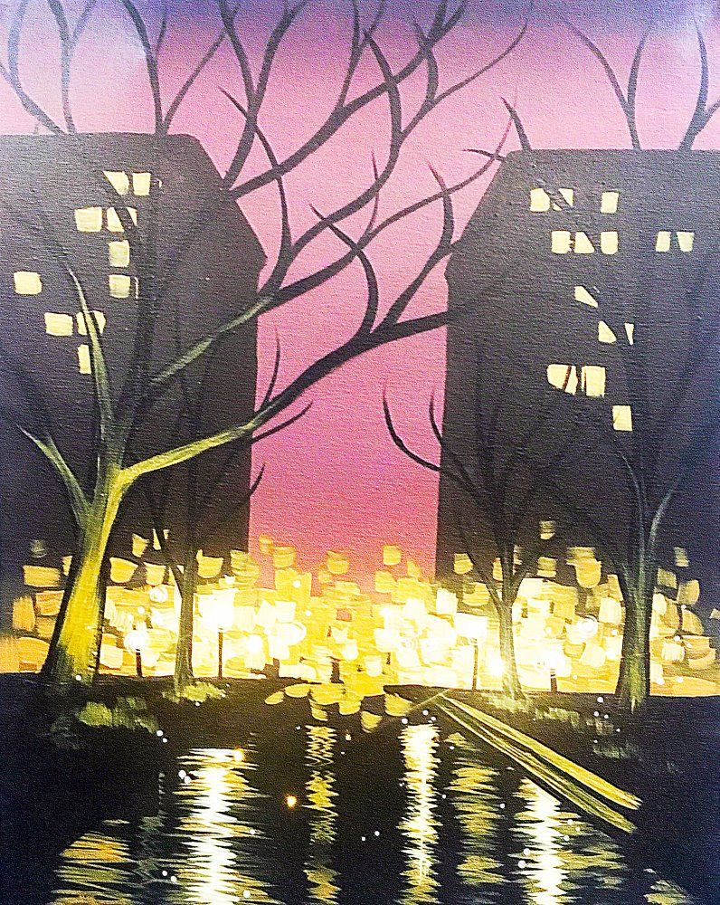Rainy Reflections- Muse Paintbar
