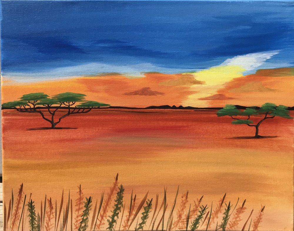 Safari Skyline- Muse Paintbar