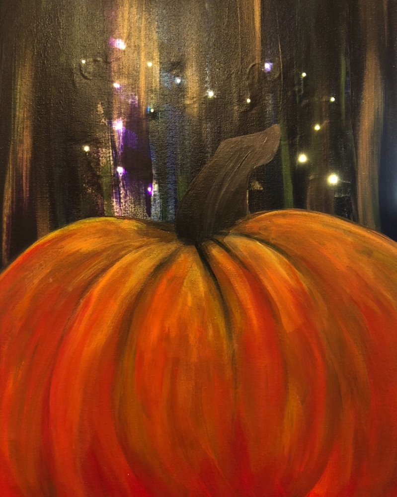 Shimmering Pumpkin- Muse Paintbar
