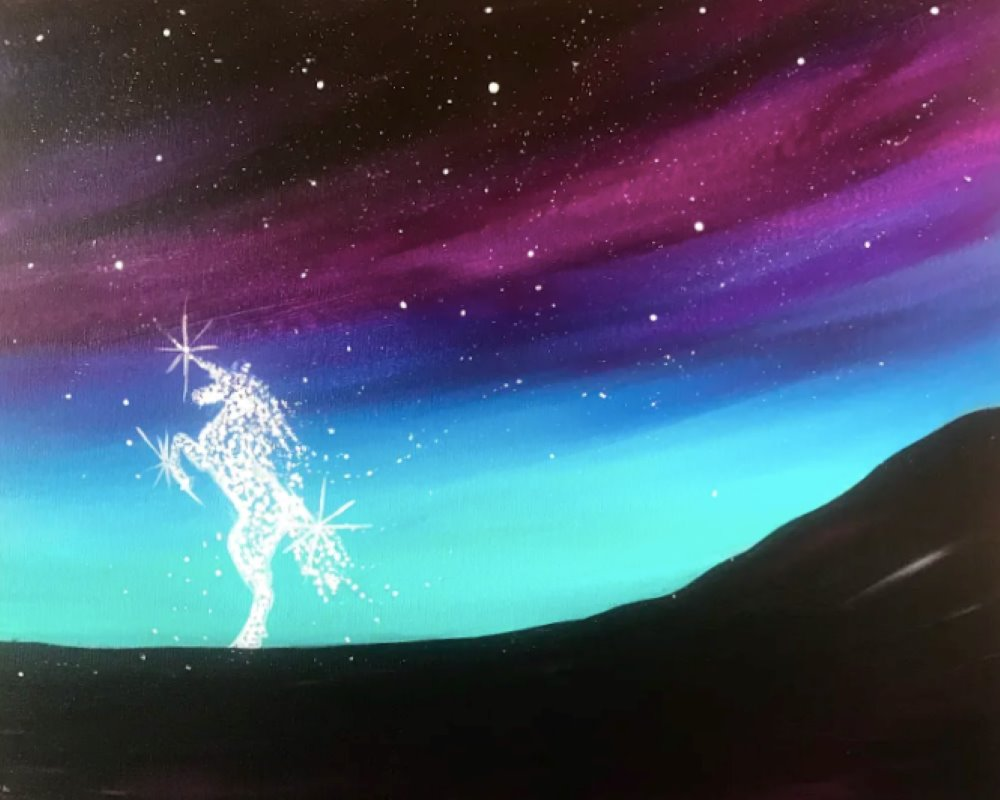 Shining Unicorn- Muse Paintbar