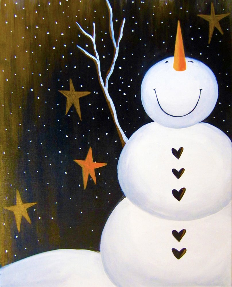Smiley Snowman- Muse Paintbar