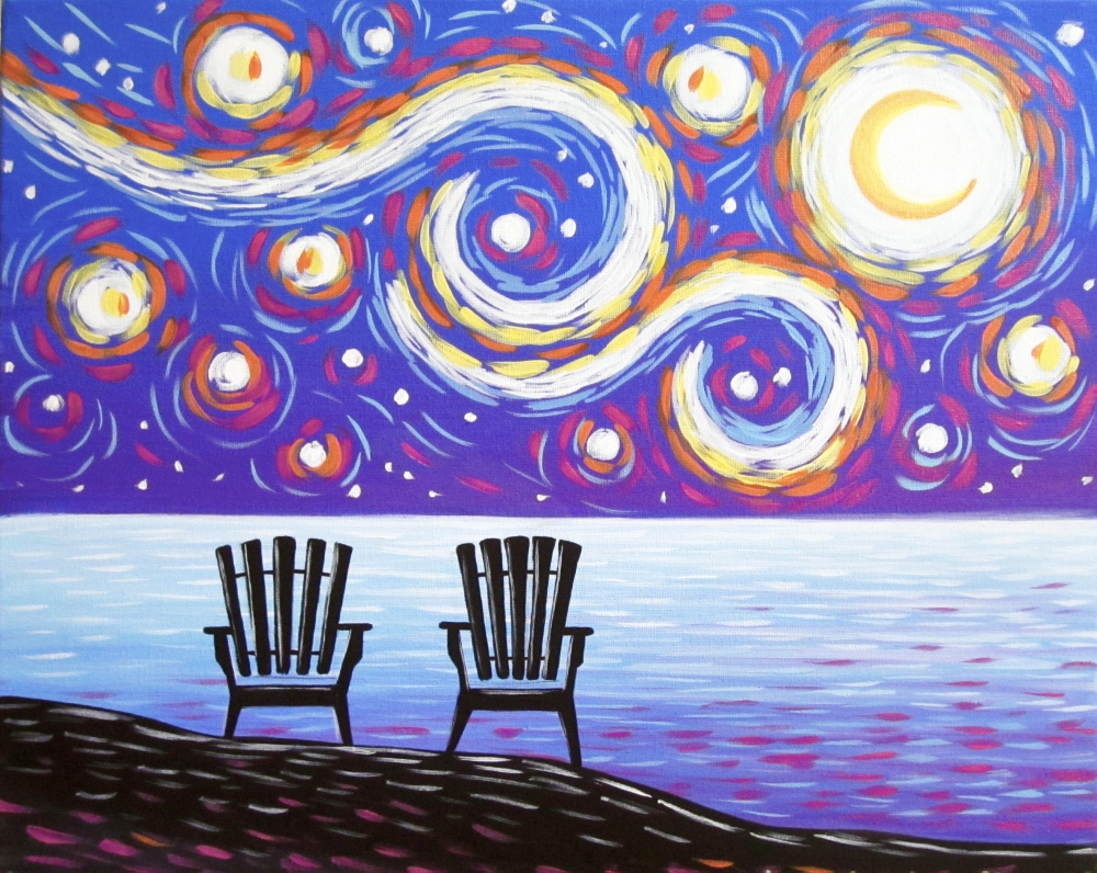 Starry Adirondack Nights- Muse Paintbar