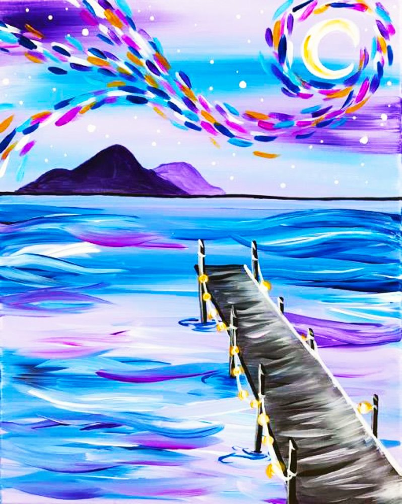 Starry Lavender Dock- Muse Paintbar