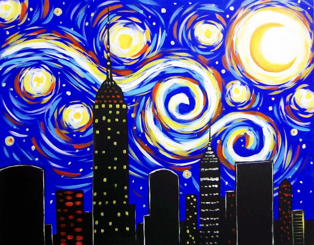 Starry Manhattan- Muse Paintbar