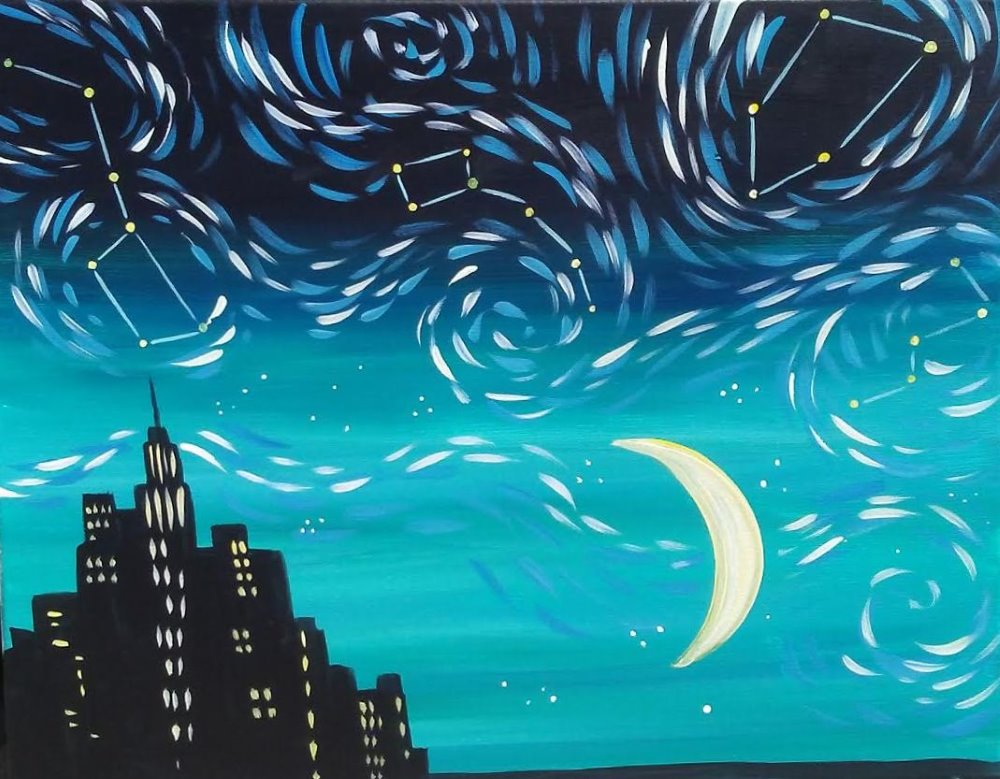 Starry New York City- Muse Paintbar