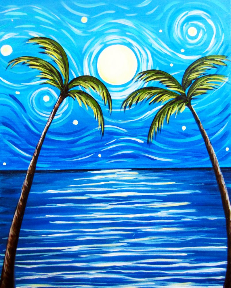 Starry Palms- Muse Paintbar