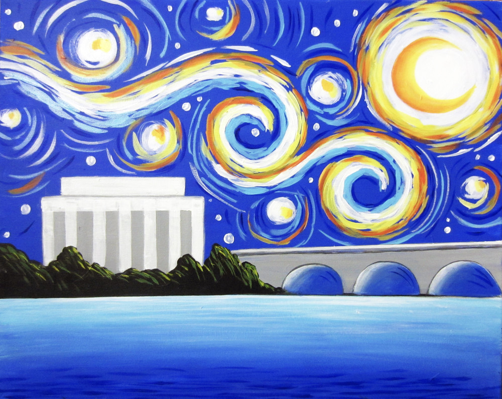Starry Potomac- Muse Paintbar