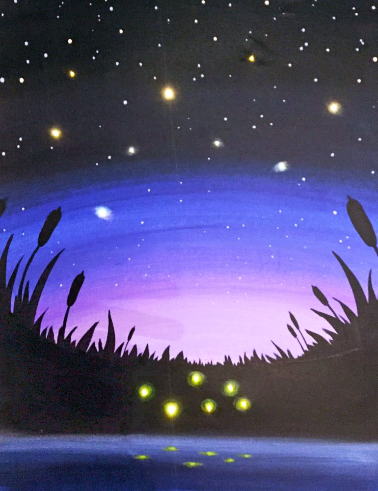 Starry Skies and Fireflies - Muse Paintbar