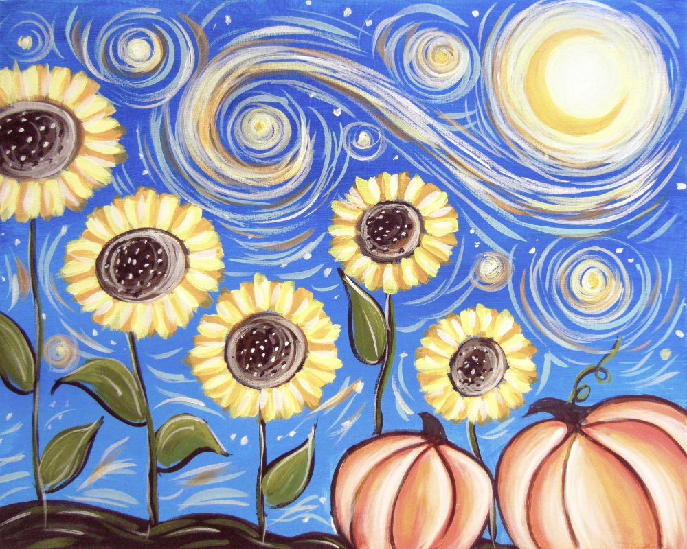 Starry Sunflowers- Muse Paintbar