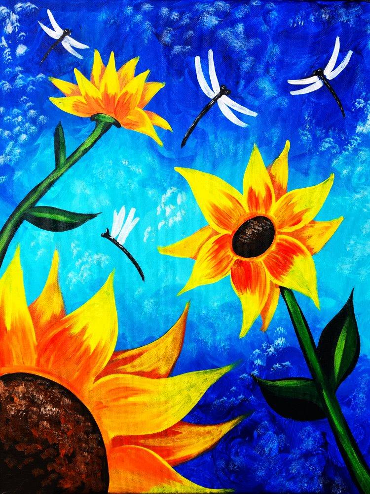 Summer Sunflowers- Muse Paintbar