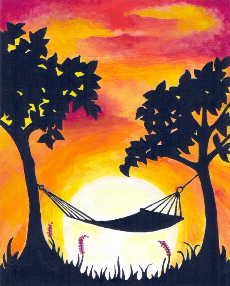 Sunset Hammock- Muse Paintbar