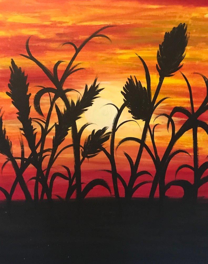Sunset Reeds- Muse Paintbar