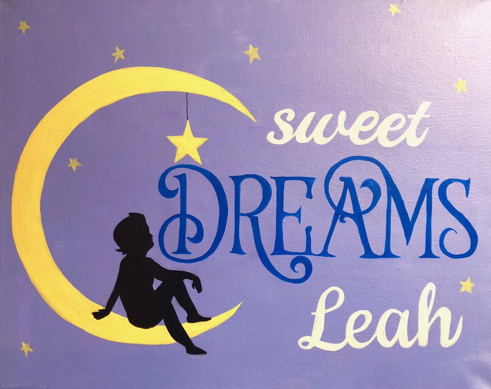 Personalized Sweet Dreams- Muse Paintbar