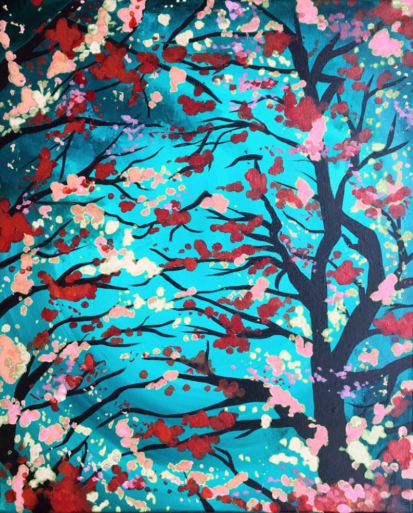 Swirling Blossoms- Muse Paintbar