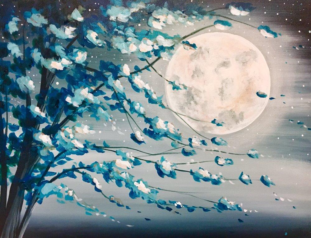 Teal Moonlight- Muse Paintbar