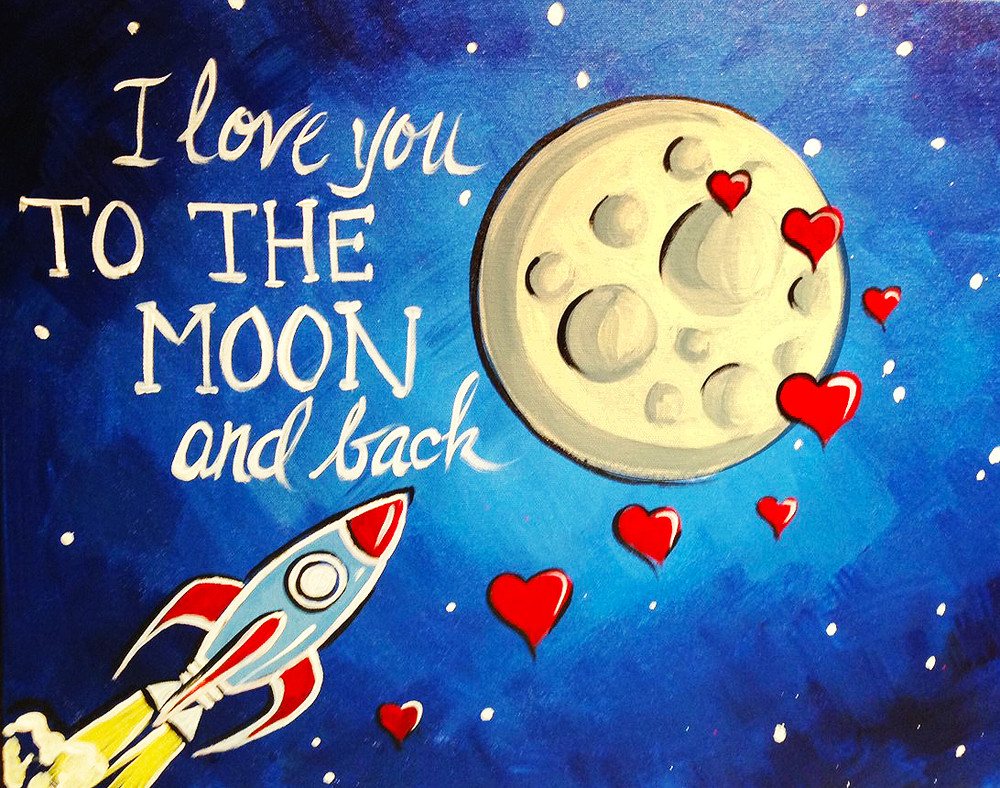 To the Moon- Muse Paintbar