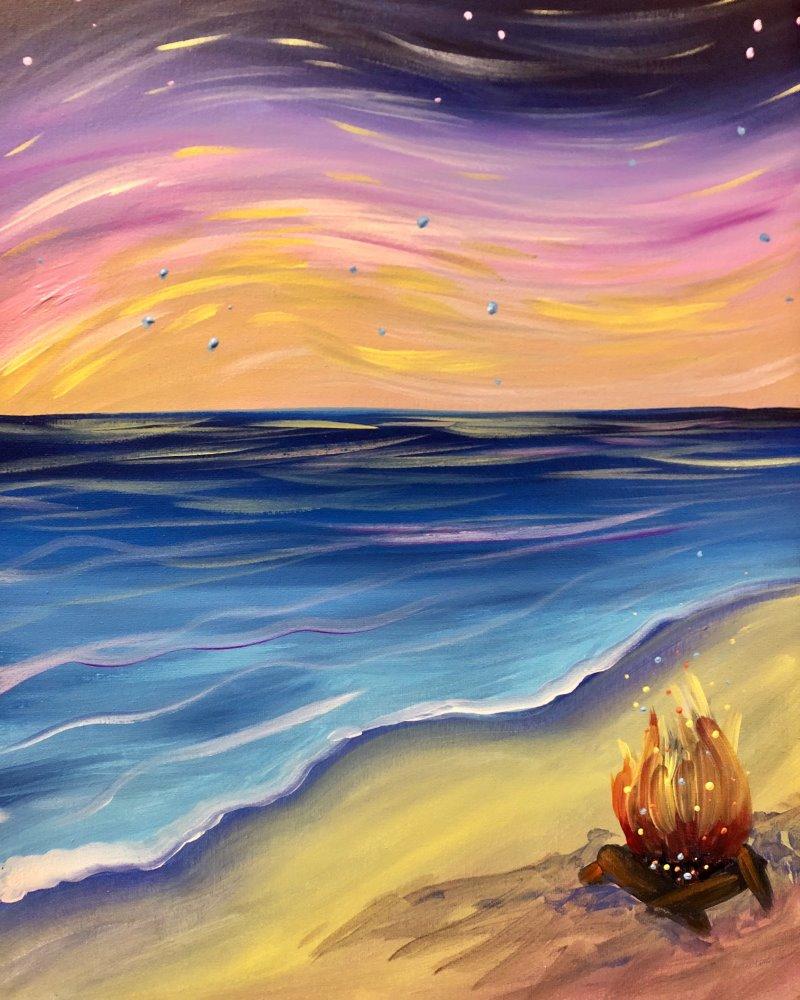 Twilight Bonfire- Muse Paintbar