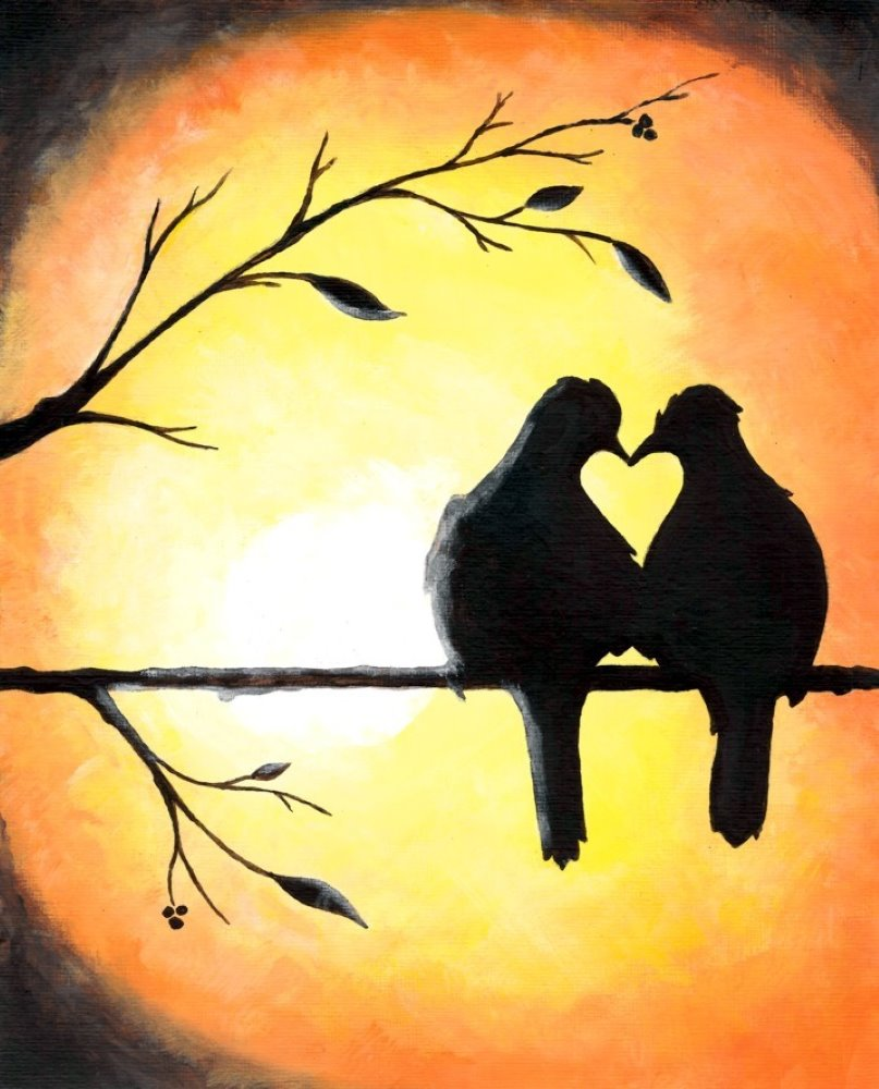 Twilight Lovebirds - Muse Paintbar