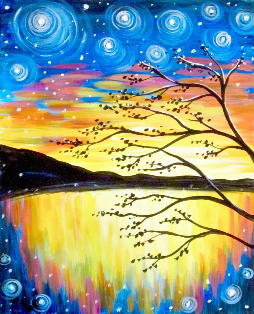 Twinkling Twilight- Muse Paintbar