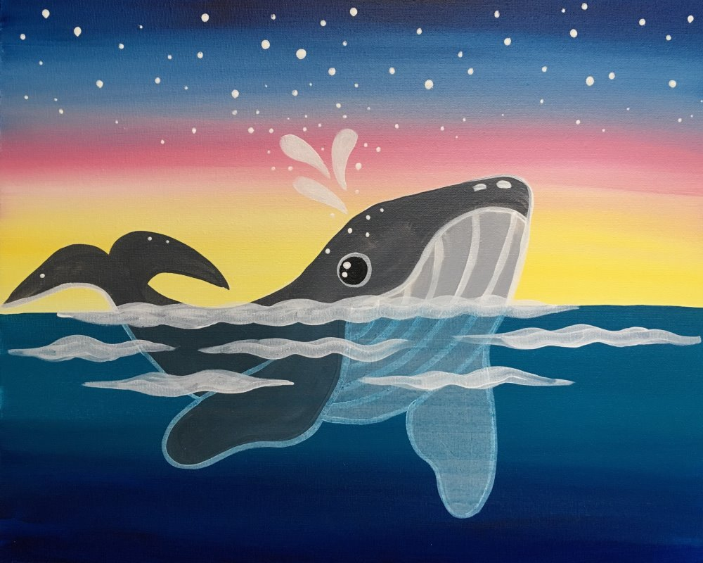 Wild Whale- Muse Paintbar
