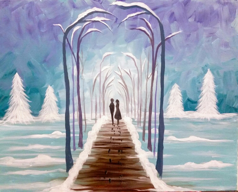 Winter Walkway- Muse Paintbar