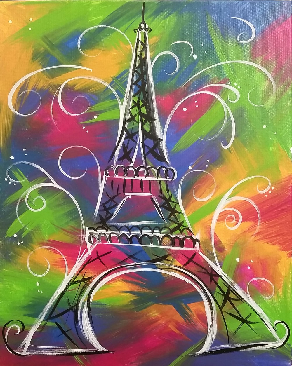 Funky Eiffel Tower- Muse Paintbar