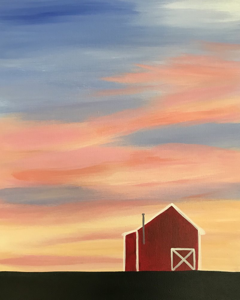 Barn at Sunset- Muse Paintbar
