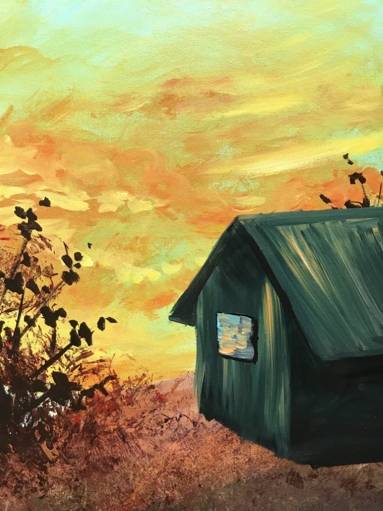 Cabin at Sunrise- Muse Paintbar