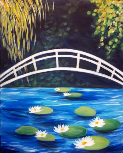 Nighttime Water Lilies- Muse Paintbar