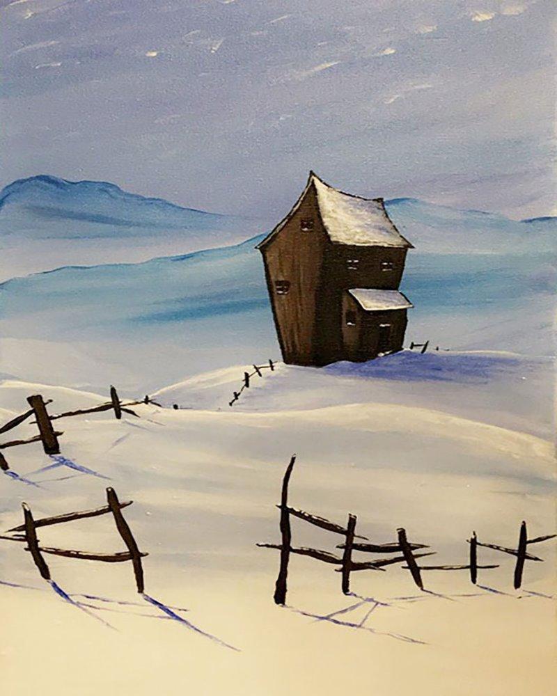Snowy House- Muse Paintbar