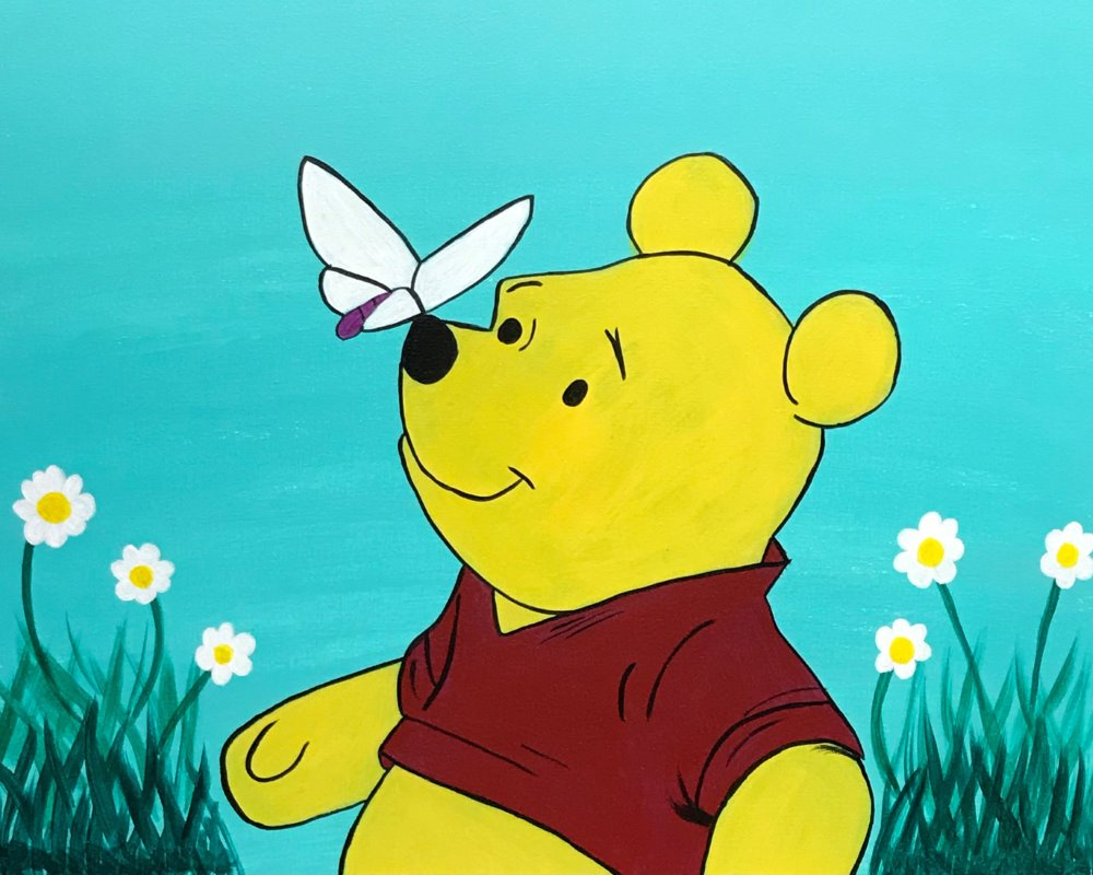 Springtime Pooh- Muse Paintbar