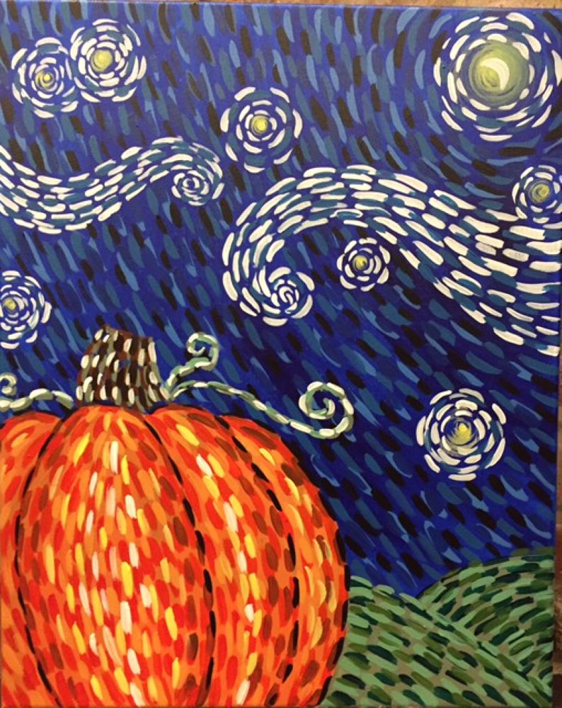 The Great Starry Pumpkin- Muse Paintbar