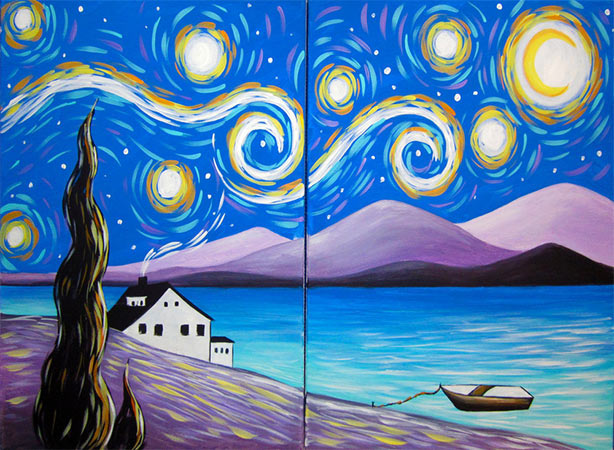 Couples' Painting - Starry Skies